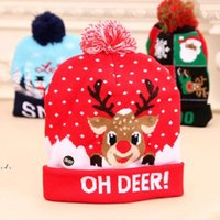 LED funny Christmas Hat Novelty Light-up Colorful Stylish Beanie Cap Knitted Xmas Party DWF11099