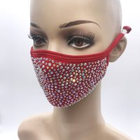 Fashion Bling Diamond Protective Mask 18 Colors PM2.5 Dustproof Face Masks Washable Reusable with Rhinestones GWB10275