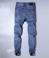 New Mens Abbigliamento Abbigliamento Jeans Jeans Mens Distressed Skinny Pantaloni Skinny Abbigliamento Modo Slim Moto Moto Moto Biker Hip-Hop Denim Pantaloni uomo Denim