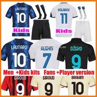 21 22 Lautaro Eriksen Fussball Trikots 2021 2022 Vidal Barella Milan Alexis Inter Hakimi Jersey Kinder Kits Home Away Dritter Camiseta Futbol MAILLOT FUCK FUTEL HEMDEN