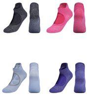 Cotton Anti Slip Soft Silicone Sole Antiskid Dance Socks Wholesale Gym Fitness Non Slip Floor Sox Slipper Women Yoga Pilates Backless Grip Sock