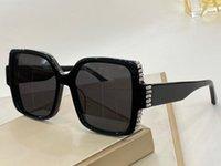 Sonnenbrille für Frauen Sommer Stil Anti-Ultraviolett Retro Peva-Platte-Vollbild mit Diamanten Mode Brillen Zufallskiste