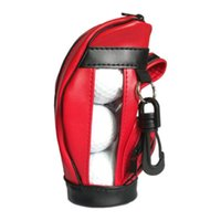 Golf Balls PU Leather Small Ball Pouch Portable Waist Bags With 3 Accessories For Ball Tee