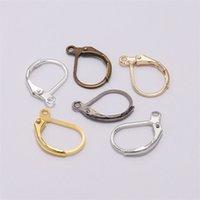 20pcs / lot 15 * 10mm oro leva francese leva orecchino ganci metallici set di cerchi di base orecchini per gioielli fai da te creazione di forniture 1240 q2