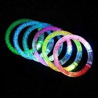 Elegante festa celebrazione festa regali a LED flash acrilico cristallo gradiente braccialetto creativo natale forniture per feste di natale