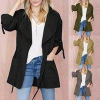 Women's Jackets Pretty Womens Long Sleeve Pocket Drawstring Hooded Coat Jacket Windbreaker Top