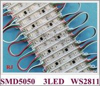 with IC WS2811 LED light module digital magic led module SMD 5050 DC12V 3 led 0.72W WS 2811 IP65 waterproof 100pcs lot