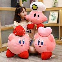 게임 Kirby Adventure Kirby Plush 장난감 요리사 딸기 스타일 소프트 인형 어린이를위한 동물 장난감 생일 선물 홈 장식 CJ30