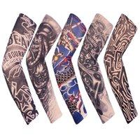 Outdoor Sport Rękawiczki Rękawicy Rowerzysta 3D Tatuaż Drukowane Armwmer Ochrona UV MTB Rower Rower Rybka Ramię Rękawy