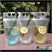 Wasserflaschen Trinkküche, Essbar Hausgarten Drop Lieferung 2021 450ml Frosted Transparent Selbstversiegeltes Getränk mit Herzform