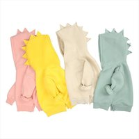 7 colori Moda Dinosauro Bambini Felpe con cappuccio Primavera Warm Fleece Girls Giacca Bambini anziani Pullover Capispalla 6m 12y Neonato Abbigliamento