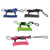 Pool & Accessories Underwater Diving Scuba Snappy Coil Camera Light Torch Lanyard Clip Buckles Spring Spiral Strap