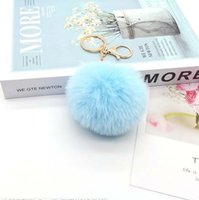 2021 fashion Creative models imitating key Rings rabbit artificial fur ball hanging chain pendant luggage ornaments jewelry accessories