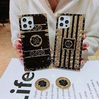 Custodie per telefono quadrato classico di lusso per iPhone 12 11 Pro Max XR XS Samsung S8 S9 S10 Plus S10E Nota 8 9
