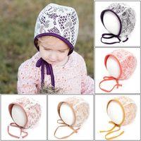 Newborn Caps Kids Hats Girls Lace Cap Autumn Winter Cotton Princess Infant Hat Beanies Baby Accessories B6422