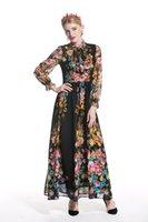 Urumbassa Boho Donne Abiti Estate Manica Lunga Elegante Moda Stand Fashion Collar Beach Dress S230 Casual