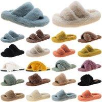 2021 luxury women slides slippers shoes womens comfortable loafer black yellow slide slipper flat flip flops size 35-40 color25