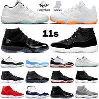 11 Air Jordan Retro Mężczyźni Buty do koszykówki AJ 11S Cap and Gown Prom Night Concord Space Dżem Hodowane Czarny PRM Heiress Red Win Like 96 Sports Sneakers