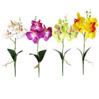 Simulation Fleurs Fantaisie Quatre Butterfly Orchidy Plante charneuse Bonsaï Fleur Organigramme Accessoires Can CSV