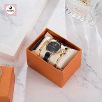 Mode Black Lady Armbanduhr Blau Einfache Frauen Armband Uhren Casual Stilvolle Weibliche Geschenkuhr 3 PCS Set Zonmfei Marke Armbanduhren