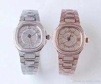 TW كامل الماس البلاتين الإصدار 5719 / 2G Montre de luxe 324c حركة الساعات للماء 50M الماس ووتش سمك 10 ملليمتر