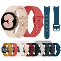Color Buckle Sport Rubber Band for Samsung Galaxy Watch 4 Classic 46mm 42mm 44mm Silicone Strap Bracelet