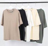 Haute Street Hommes et femmes Couples T-shirt T-shirt T-shirt Marée Marque Pure Coton Pure Fils Double Fils Weave S-XL
