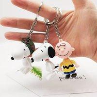 2021 Moda Anahtarlık Yaratıcı Karikatür Snoopy Araba Anahtarlık Çanta Kolye Charlie Kahverengi Hediye
