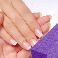 Nail Files 10pcs Four Sided Buffer File Polishing Block Grinding Sanding Sponge Tools For Salon (Purple)