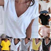 GAKE WEISS SOMMER T-SHIRT Frauen Casual Womens T-Shirts Harajuku Plus Größe Tops Kurzarm T-Shirt Damen Damen Kleidung