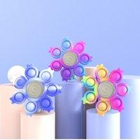 Push Bubble Dimple Funny Fidget Toys For Children Decompression Anti Stress Sensory Toy Kids Luminous Rotating Bracelet Gift