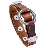 Punk Men Leather Bracelet Jewelry Wrap Gift Tennis