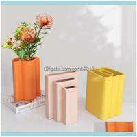 Décor Home & Gardennordic Geometric Art Ceramic Vase Decoration Model Room Living Dining Designer Dry Flower Arrangement Decor Vases Drop De