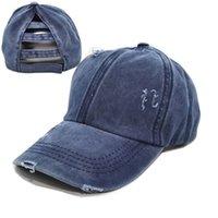 모자 중립 조수 홀드 야구 순수 면화 햇빛 모자 가정용 자외선 차단제 와이드 브림 여성 포니 테일 캡 통기성