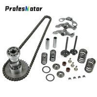 Motorcycle Cylinder Head Parts Camshaft Intake Exhaust Valve Springs Rocker Timing Chain For LF Lifan 125cc Horizontal EngineS Pedals