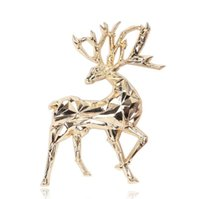 Pins, Brooches Doluo Exquisite And Cute Gold Christmas Deer Animal Men's Brooch Women's Clothing Versatile Accessories