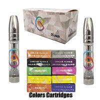 Colors Ceramic Vape Cartridges Empty Vapes Pen Atomizer 510 Thread Cartridge E-Cigarettes Vaping Carts 0.8ML Thick Oil Vaporizer Pens Kits