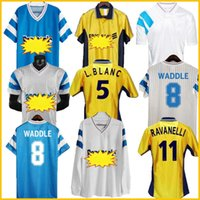 1998 1999 1999 2000 90 91 91 93 Olympique de Marseille الرجعية لكرة القدم جيرسي 98 99 L. بلانك بيريس موريس بلانك رافانيلي جالاس كلاسيك خمر لكرة القدم قميص