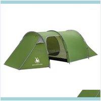 الخيام الملاجئ والرياضة outdoorsoutddoor 3-4 شخص غرفة مزدوجة طبقة غرفة واحدة مقاوم للماء نزهة خيمة الشاطئ التخييم المشي لمسافات طويلة