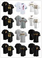 "Personalizado Jersey Mens Pittsburgh ""Piratas"" 44 Cody Ponce 62 Sean Poppen 58 Pantéis Jacob 46 Chris Stratton Baseball Jerseys"