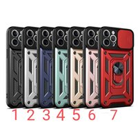 Armor Cases Finger Rings Holder Cover Shockproof With Camera Protection for iPhone12 mini pro max 11 XR XS 8 Samsung S20 Ultra plus A01 A10s A11 A02 A02s LG MOTO HUAWEI