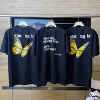 Bear Angel Palm Back Butterfly Drucken Lettered Slogan Zhou Yangqing Herren und Frauen lose kurze Ärmeln