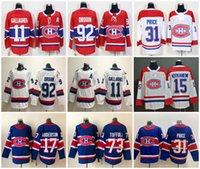 2021 Montreal Canadiens Formalar Erkekler Carey Fiyat Jersey Nick Suzuki Brendan Gallagher Josh Anderson Jonathan Drouene Dikişli