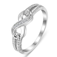 Fashion Cz Infinity Endless Love Claddagh 8 Shape Rings for Women Plata argento Filled Jewelry Anel Feminino