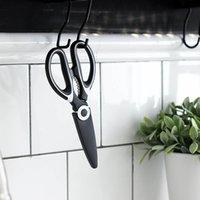 Tijeras de cocina de acero inoxidable Tijeras de cocina multiusos con cubierta de cuchilla Slicer Slicer Smart Cutter Herramientas CCF6527