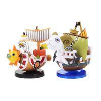 6-7см 2styles op собирается веселые тысячи солнечные пиратские лодки модель мини фигурная коллекционная кукла аниме модель игрушки