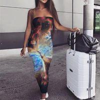Casual Dresses KYKU Galaxy Dress Women Space Party Universe Boho Nebula Ladies Womens Clothing Tassel Cool Fashion GYN7