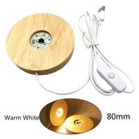 الخشبية 3d ليلة ضوء دائري قاعدة حامل الصمام عرض موقف للبلورات الزجاج الكرة الإضاءة الإضاءة الملحقات