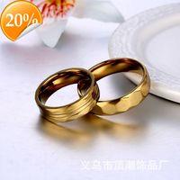 Creative multi faceted Diamond Stainless Steel couple ring female titanium steel fashion male Korean jewelry