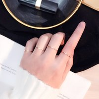Fashion Jewelry Couple Ring Young Girl Personality Accessories Sexy Women Charm Stainless Titanium Steel Simple Elegant Glossy Rings Party Wedding Lover Kids Gift